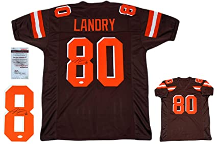 buy popular a8ec8 0eb54 Jarvis Landry Autographed Signed Jersey - JSA Authentic - Brown