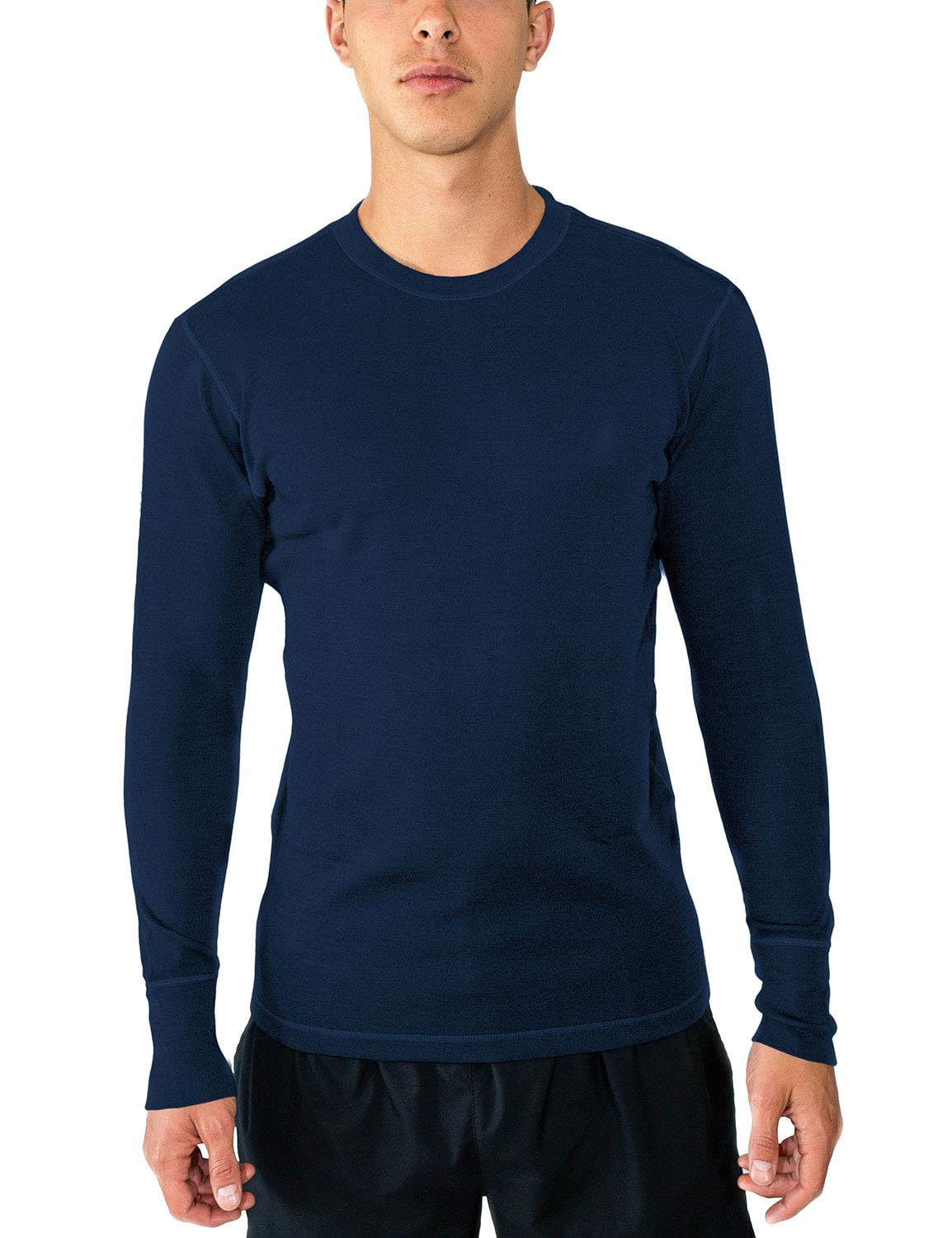 WoolX Explorer - Men's Midweight Merino Wool Baselayer Top - 100% Merino Wool Crew X502