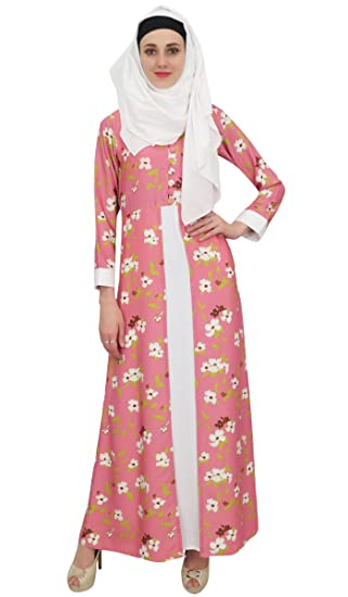 15c3d8d224904 Bimba Longue imprimé des Femmes Abaya Jilbab Islamique musulmans Maxi Hijab  Robes-36