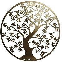 DRW Aplique Cuadro Redondo Metal árbol de la
