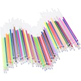 Meetory 48 Colored Gel Pen Ink Refills for Glitter Metallic Coloring and Crafts,0.8mm Tips Drawing Pens Replacement