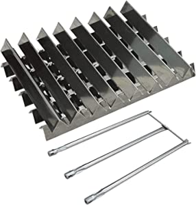 "Hongso 13-Pcs Stainless Steel Flavorizer Bars and Burner Tube Kit Replacement for Weber Genesis I - IV, Genesis 1000-5000, Genesis Platinum I & II, with Side Control Panel, 5 pcs 23-3/8"" 8 pcs 15-7/8"""
