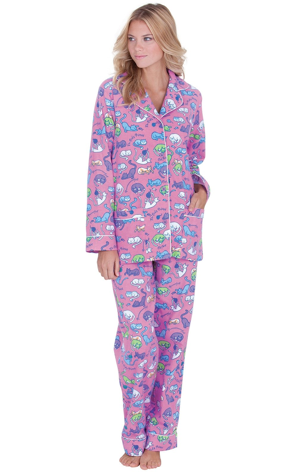 Pajamagram Flannel Pajamas Women Soft - Women'S Flannel Pajamas, Pet Lover -