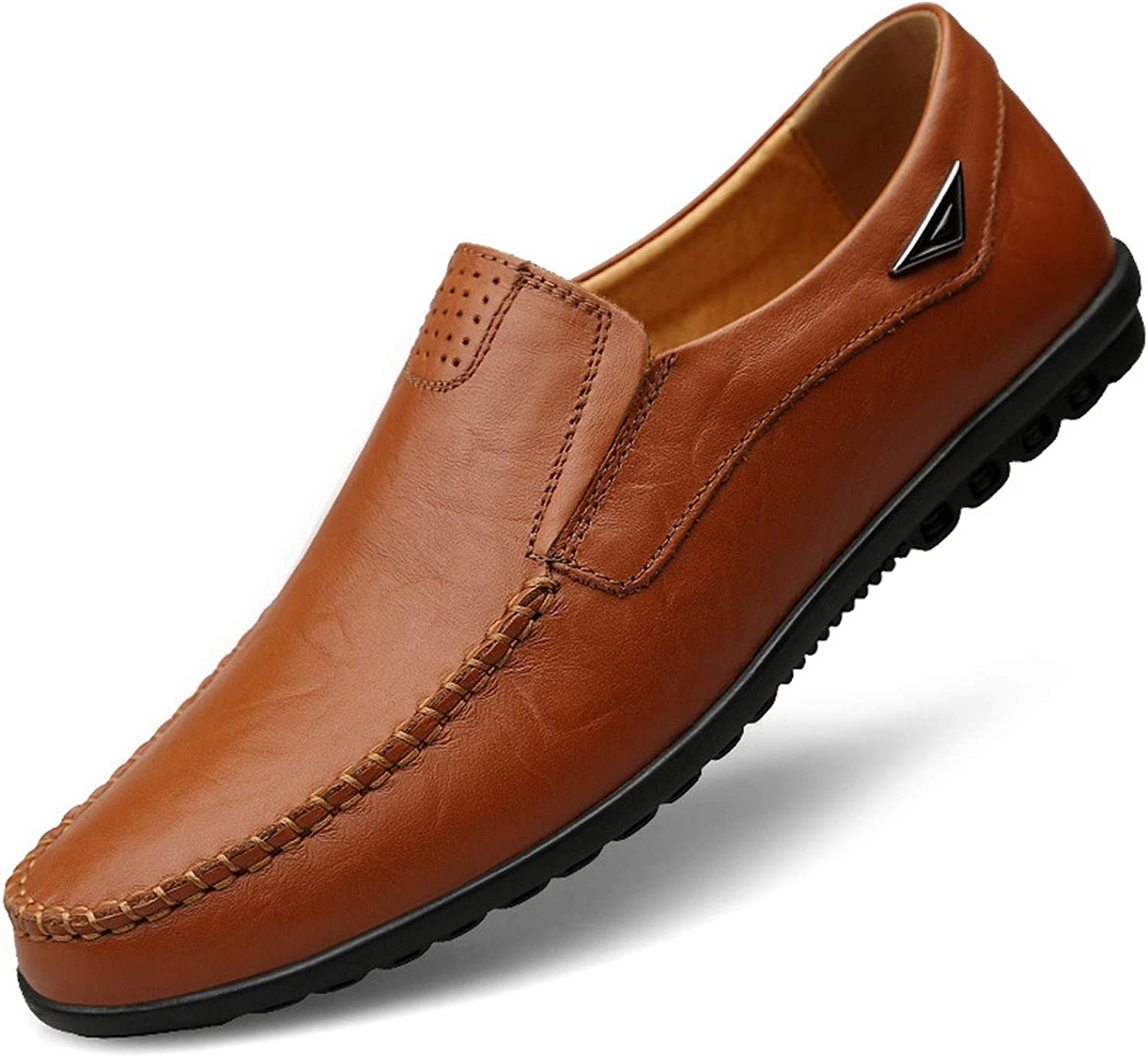 TongLing Mens Genuine Leather Shoes Lace Up Breathable Business Low Top Lined Oxfords Driving Shoes
