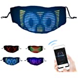 mewmewcat LED Mask LED Light up Mask Cosplay Customizable BT Mask DIY Messages 22 Animations 20 Pictures Music Mode…