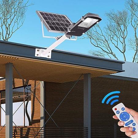 Rmckj-Q 150W Farola Solar LED Exterior Impermeable IP65 Lámparas Solares 10W-300W con Panel Fotovoltaico Inclinable Y Mando A Distancia/Sensor Crepuscular para Camino Valla Cubierta Patio Garaje,10W: Amazon.es: Hogar