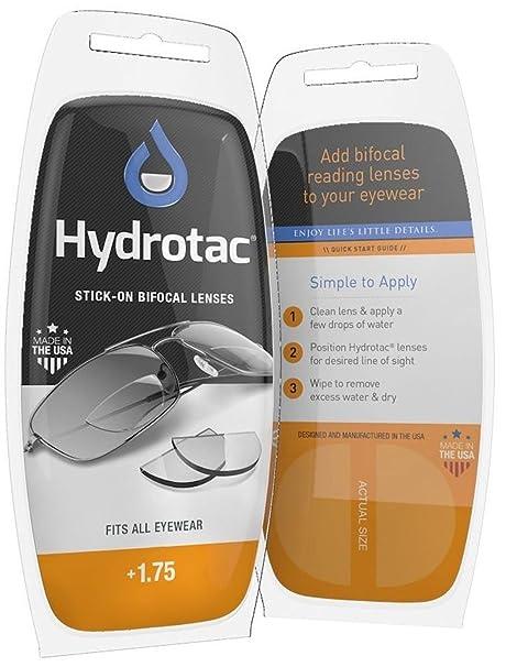 Lentes adhesivas de lectura para Gafas de Sol/Gafas de Sport-SKI/Gafas Protectoras/Lentes de lectura Bifocales Hydrotac/La solución ideal para los ...