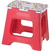 VIGAR Lady Spring Tabouret Compact Pliable, matériel: Plastique, Couleur: Rouge, Dimensions: 35x 26x 32cm