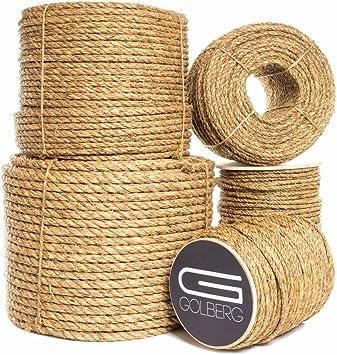 Golberg 3 Strand Natural Fiber Tan Manila Rope 1 2 Inch X 100 Feet Amazon Com