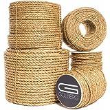 Golberg 3 Strand Natural Fiber Tan Manila Rope in Multiple Diameters - 1/4 inch, 5/16 inch, 3/8 inch, 1/2 inch, 5/8 inch, 3/4 inch, 1 inch, 2 inch X 10 Feet, 25 Feet, 50 Feet, 100 Feet, 600 Feet