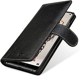 StilGut Talis Case Portafoglio, Custodia in Vera Pelle Cover per Huawei P20 PRO con Chiusura Magnetica, Nero
