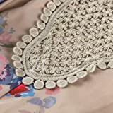 XOWRTE Women's Floral Print Lace Loose Long