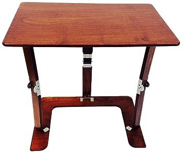 Phenomenal Spiderlegs Folding Couch Desk Tray Table 25 Inch Mahogany Short Links Chair Design For Home Short Linksinfo