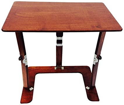 Delicieux Spiderlegs Folding Couch Desk Tray Table, 25 Inch, Mahogany