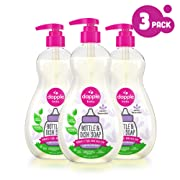 DAPPLE Baby Bottle and Dish Liquid, Lavender Dish Soap, Sulfate-Free, Hypoallergenic, 16.9 Fluid Ounces (Pack of 3)