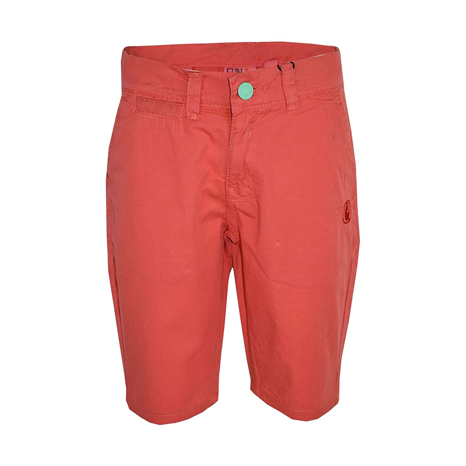 Boys Short Kids Orange Chino Shorts Summer Knee Length Half Pant Age 2-13 Yr