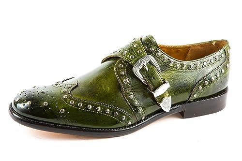 Melvin & Hamilton MH15-160 - Mocasines de Piel Lisa para Hombre Verde Verde 41