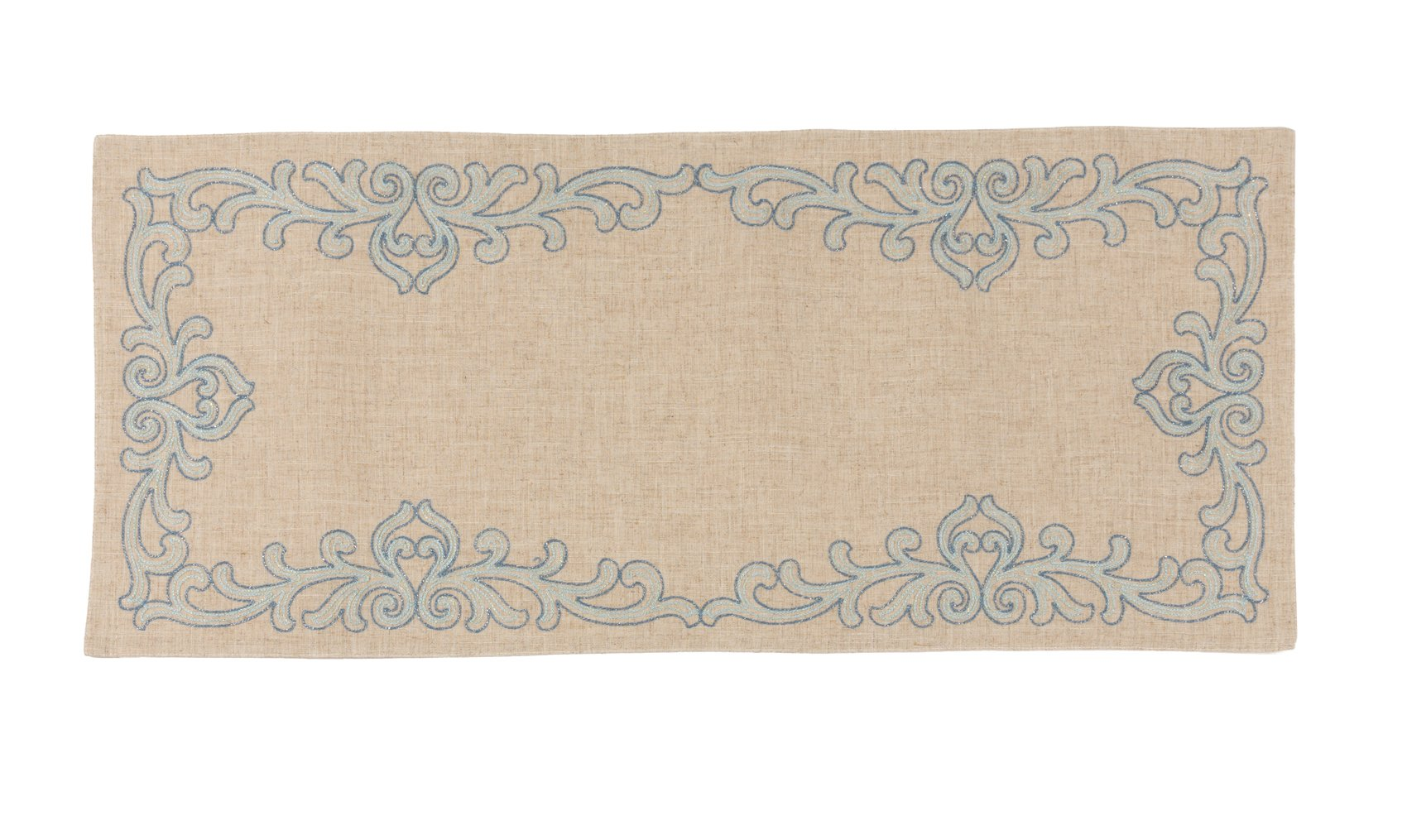 Xia Home Fashions XD181131636 Celeste Glistening Embroidered Table Runner, 16 by 36''