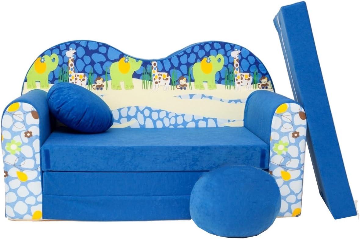 scalesport Mini Divano Bambini Bambini Baby Sofa Set Sedia per Bambini Cuscino Materasso Morbido Comodo Velour