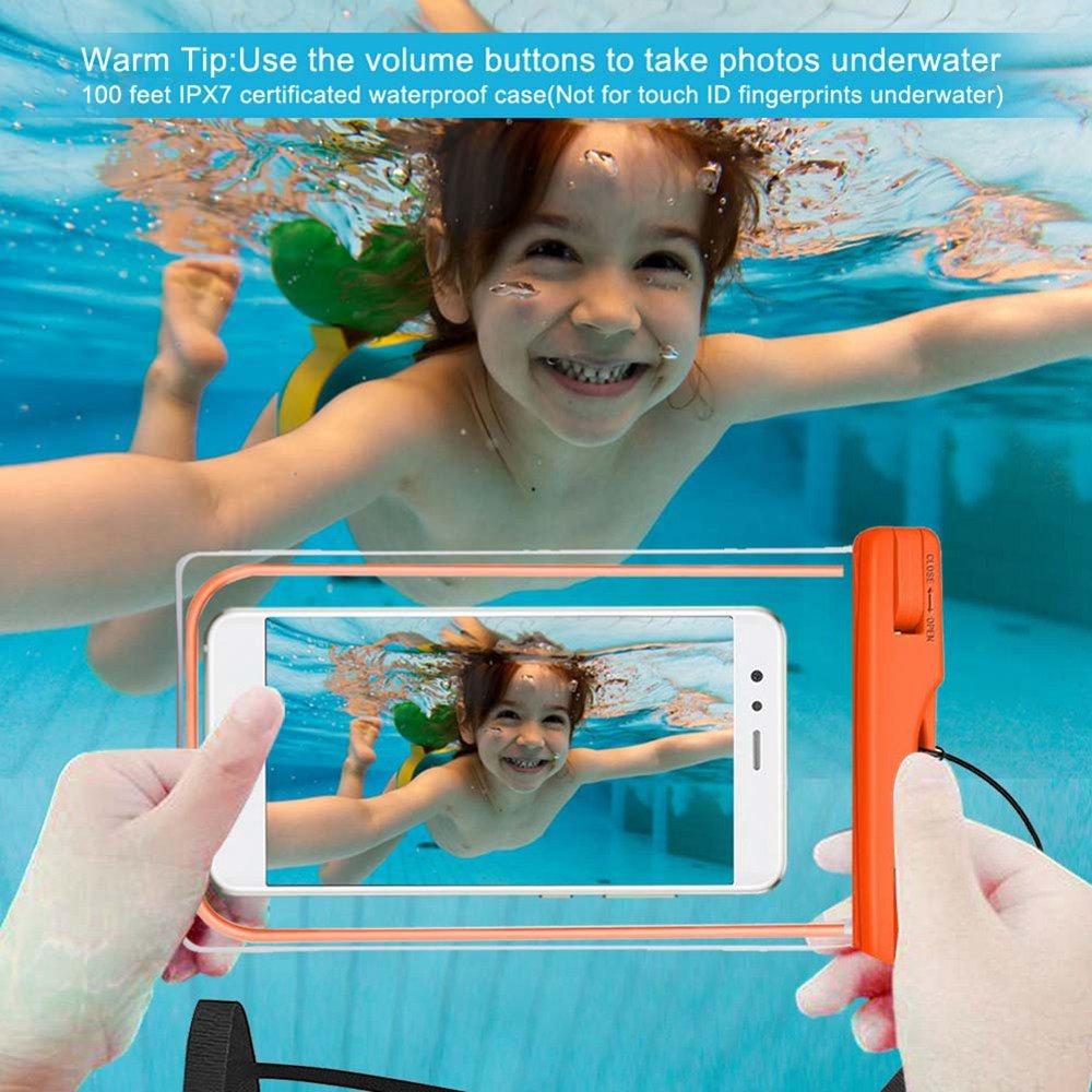2 Pack Ycloud iPhone 6 6s//iPhone 7 7G//iPhone 8 8G//iPhone 4 4G Funda Sumergible IPX8 Universal para Deportes acuaticos iPhone 5 5S 5G 5C SE Tama/ño del tel/éfono hasta 6 Pulgada Blanco+Negro