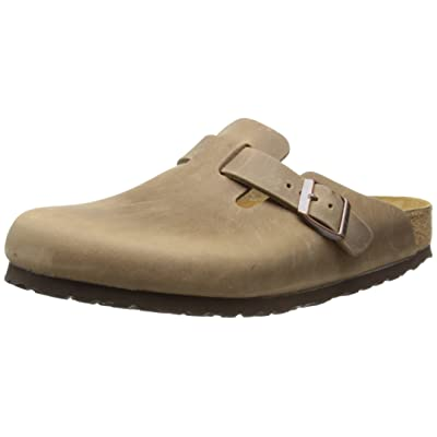 Birkenstock Mens Boston Clogs Synthetic Imported, 7 US - Tobacco Oiled Leather | Mules & Clogs