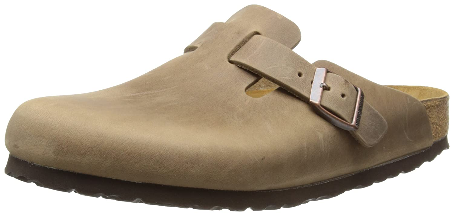 Birkenstock Boston FL, Zuecos para Hombre 43 EU|Marrón (Tabacco Brown)