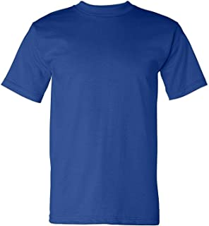 product image for Bayside Men's American made cotton Basic T-Shirt, DARK ASH, Large
