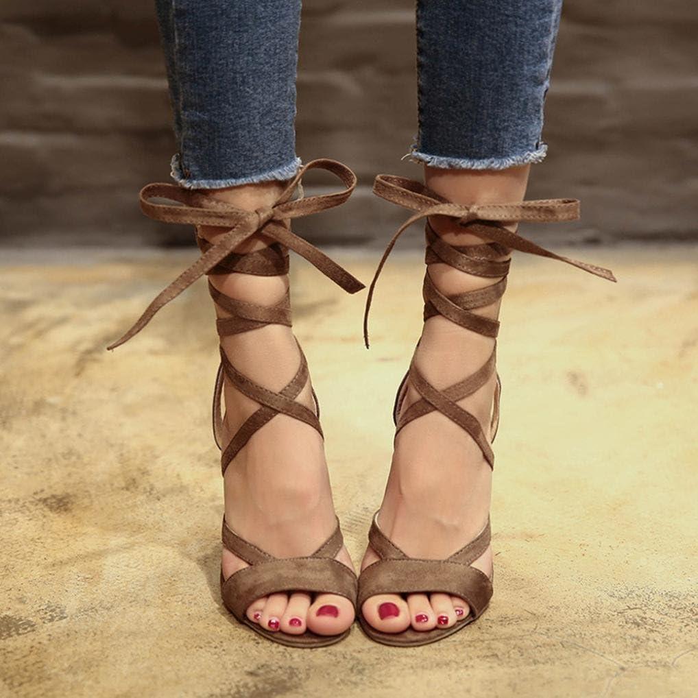 Hot Sale!Women Sandals,Sunfei Fashion Women Ladies Sandals Ankle High Heels Block Party Open Toe Shoes