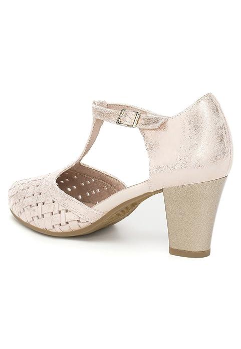 PITILLOS Sandalia Tacón Alto Gilda Nude: Amazon.es: Zapatos y complementos