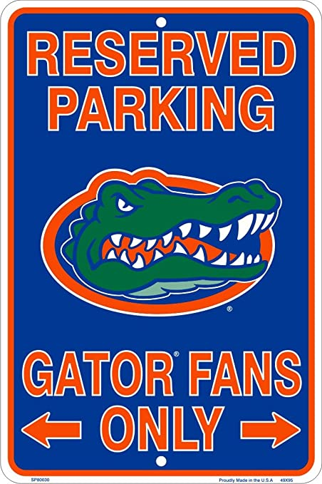 HangTime Florida Gators Fans Reserved Parking Sign Metal 8 x 12 Embossed