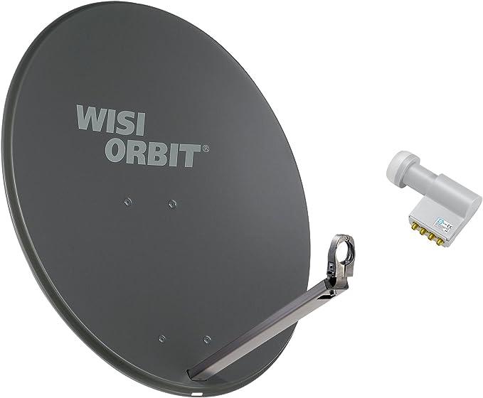 Wisi Satellitenschüssel Set Basaltgrau 80 Cm Für 4 Elektronik