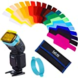 Selens Universal Flash Gels Lighting Filter SE-CG20-20 pcs Combination Kits for Camera Flash Light