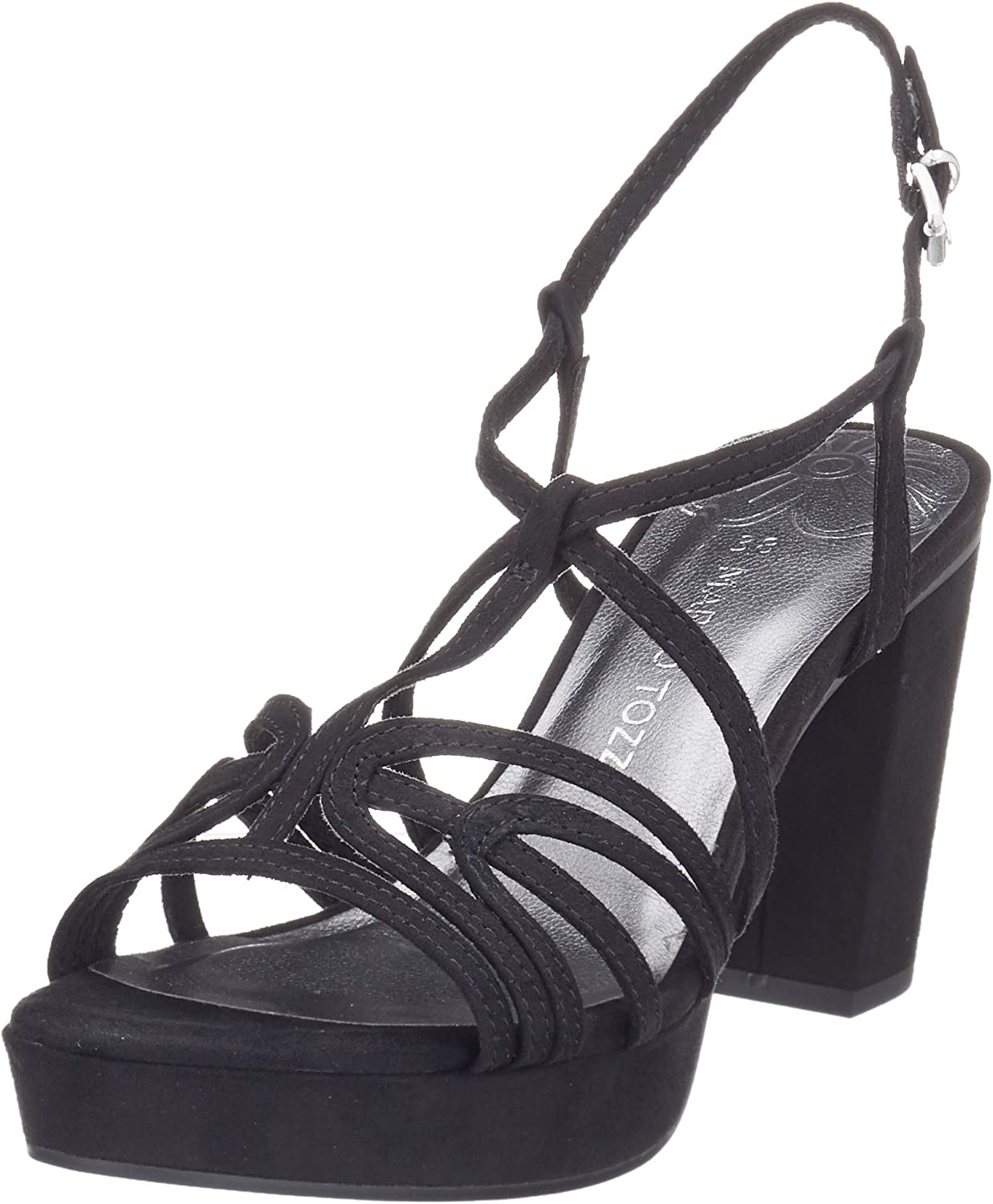 MARCO TOZZI Women's 2-2-28332-24 Ankle Blac Strap Sandals Popular brand in the world Black Phoenix Mall