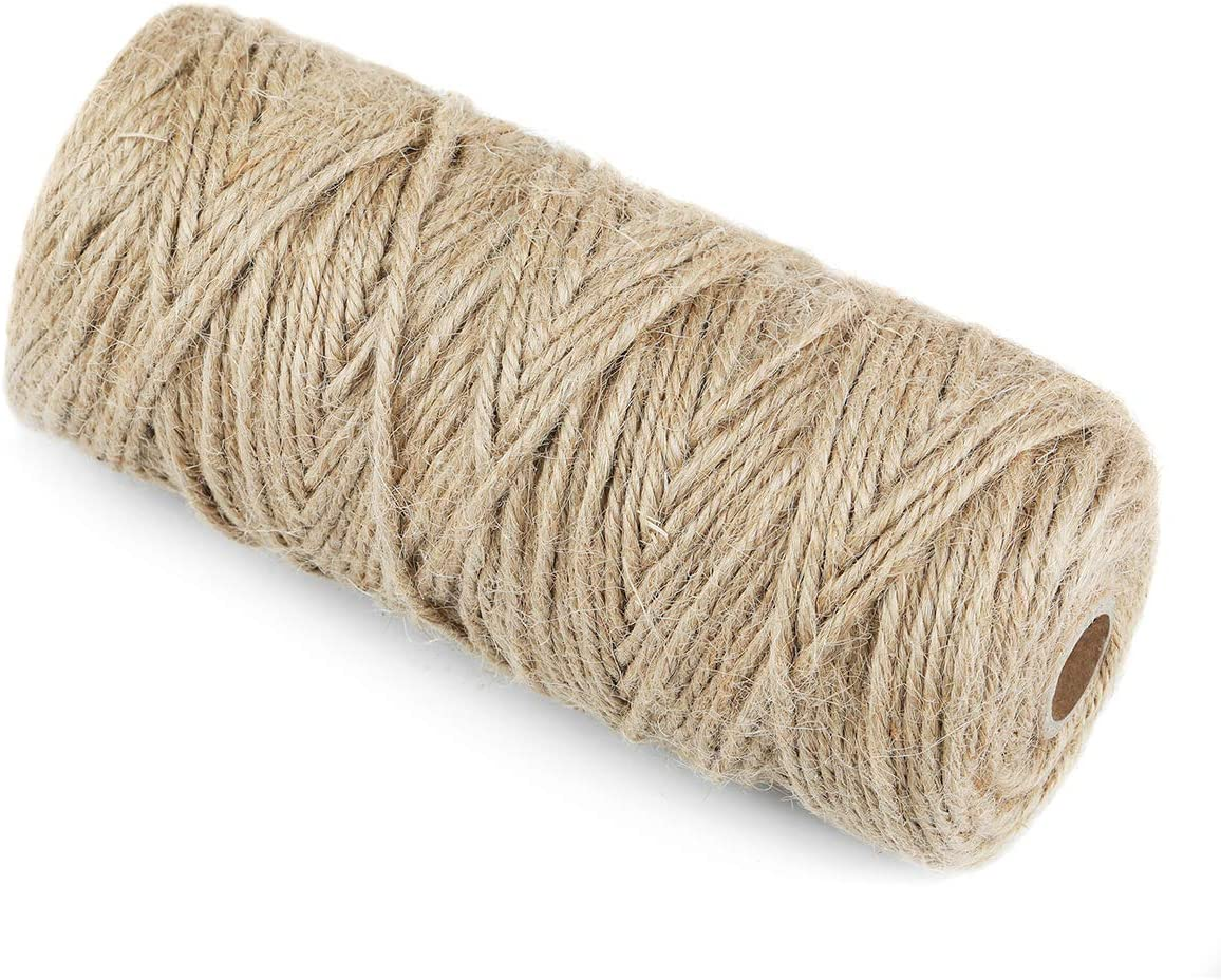 Weddings Christmas Gifts and Gardening Applications Kuzoo 328 Feet 3mm Natural Jute Twine Gift Packing String for DIY Crafts
