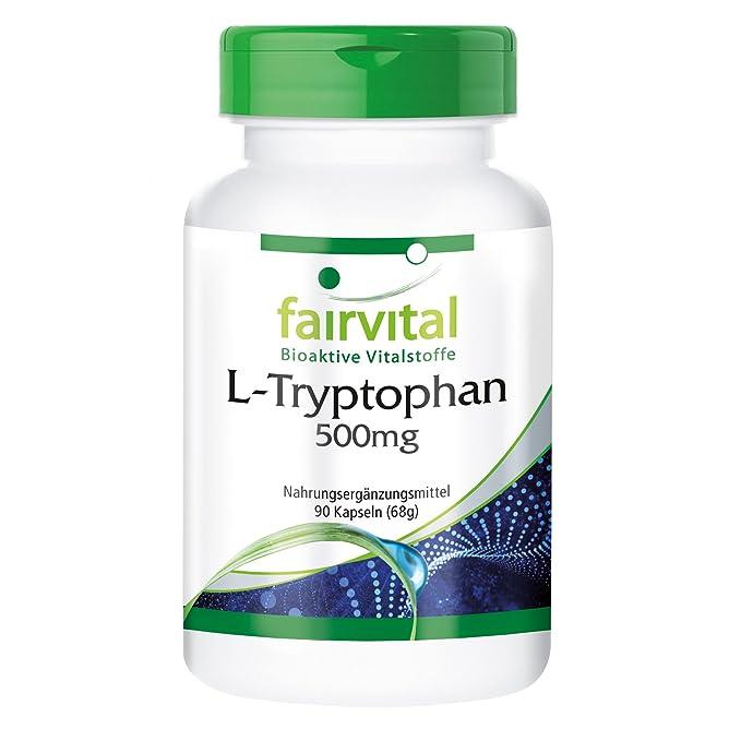 L-triptófano 500 mg - GRANEL durante 3 meses - VEGAN - ALTA DOSIS - 90 cápsulas - aminoácido esencial: Amazon.es: Salud y cuidado personal