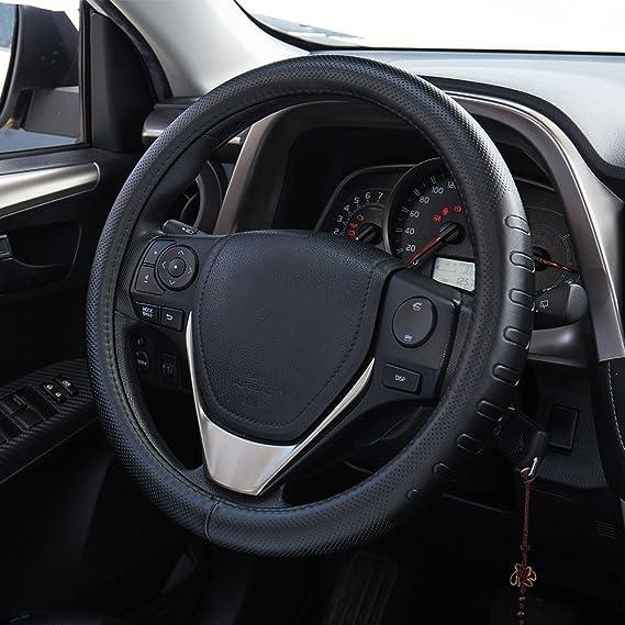 FREESOO Couvre Volant Voiture Universel en Cuir 15 inch 38cm Caches de Volant Respirante Antid/érapante Housse de Volant de Voiture Auto Accessoirs pour Voiture Camion SUV Styles Multiples)