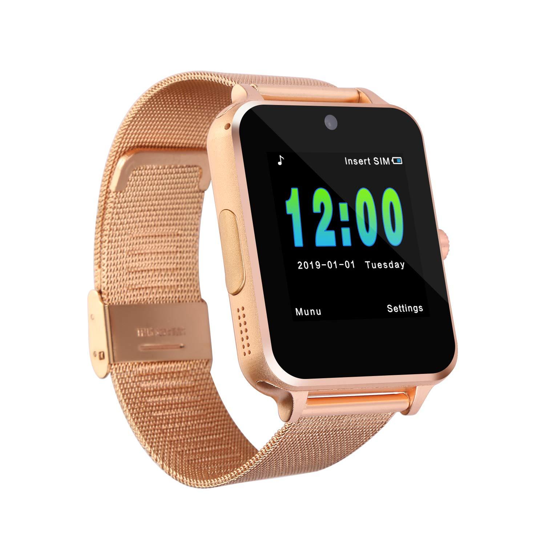 Smartwatches Bluetooth reloj inteligente desbloqueado, teléfono,llamada,texto, pantalla táctil, rastreo de actividad,cámara de notificación,sincronización Android iOS,tarjeta SD y 2 baterías incluidas