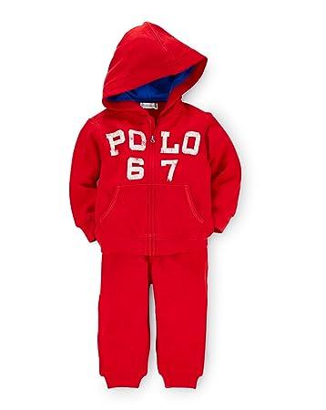 835d6a9793e1 Amazon.com  Ralph Lauren Polo Baby Boys Logo Fleece Hoodie Jacket ...