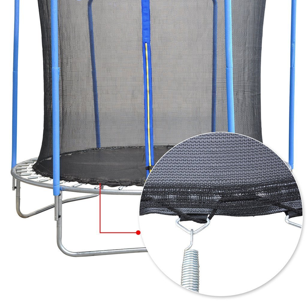 ULTRAPOWER SPORTS Trampoline Replacement Safety Enclosure Net Arched Supports Straight Poles Round Frame Trampolines Various Sizes, Net Only