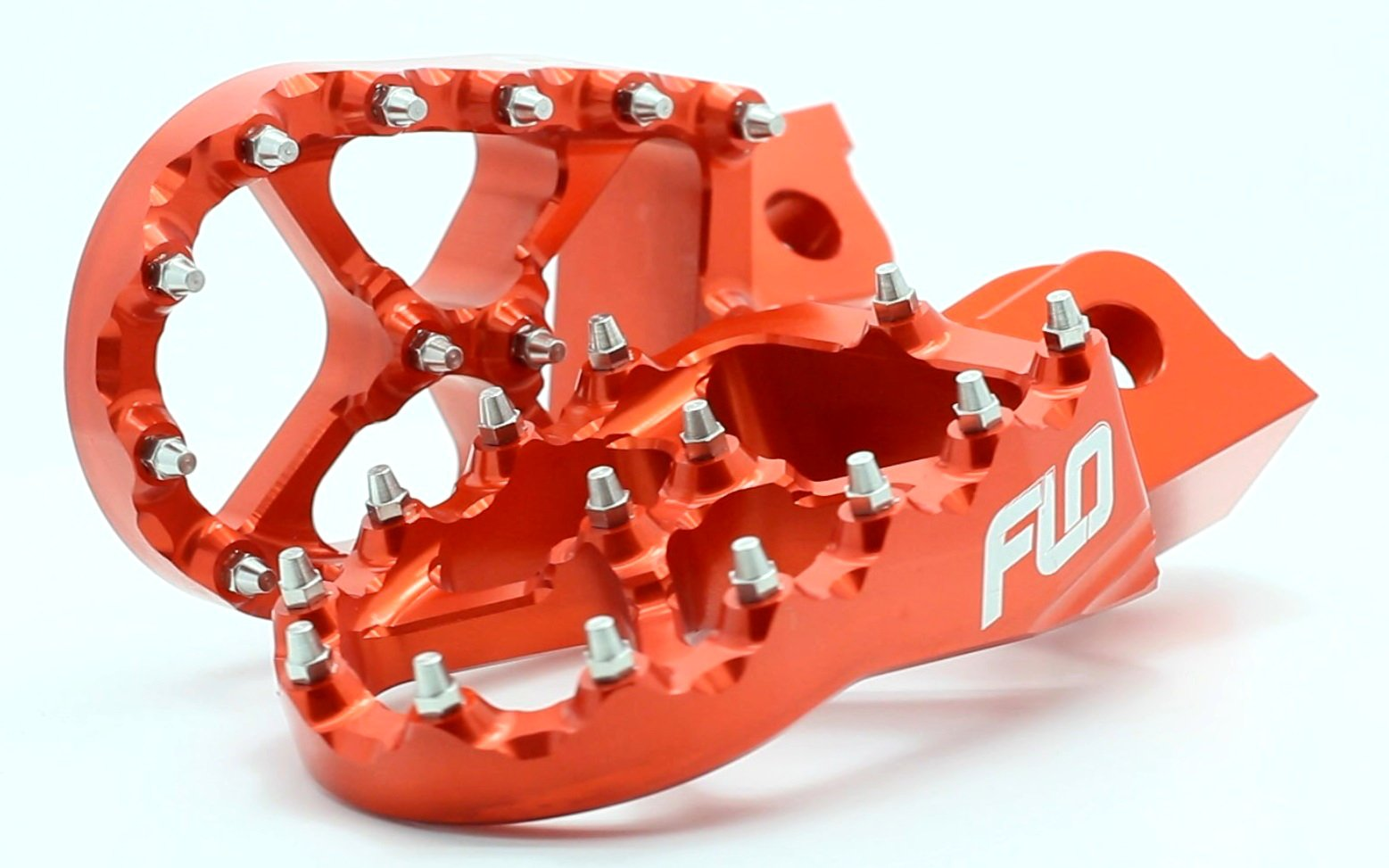Flo Motorsports Orange Husqvarna 125-501 Fc/fe/tc - Husaberg 390-550 Fe - Beta 50-525 Foot Pegs Fpeg-795org