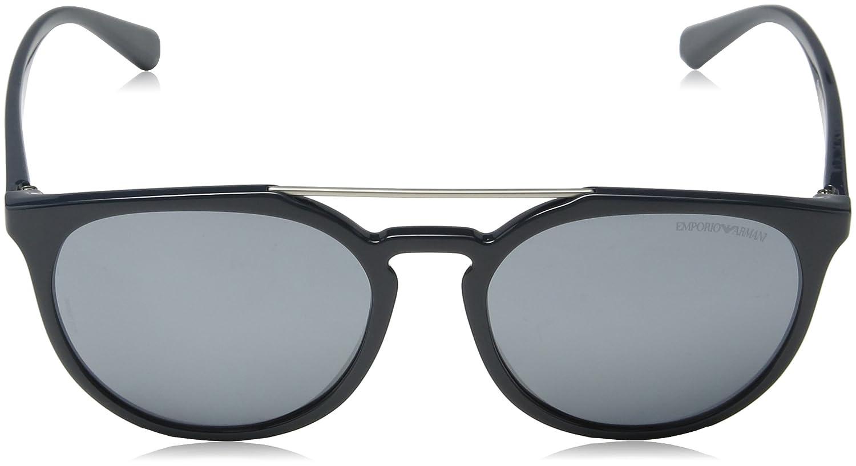 Mens 0EA4103 55966G Sunglasses, Petroleum/Lightgreymirrorblack, 56 Emporio Armani