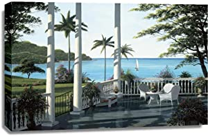 Print Mint The Canvas Print Wall Art - Bill Saunders - Caribbean Comfort - Coastal Tropical Artwork on Canvas Stretched Gallery Wrap. Ready to Hang - 42x28″