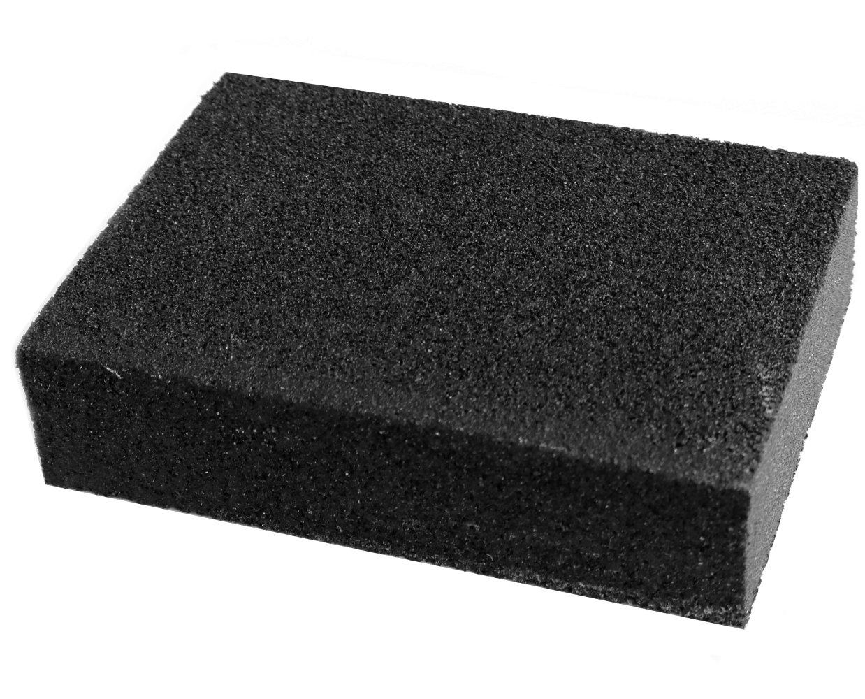 Aerzetix: Eponge abrasive 10/7/2.5cm à grain P80 4 faces C17767 C17767-AE502