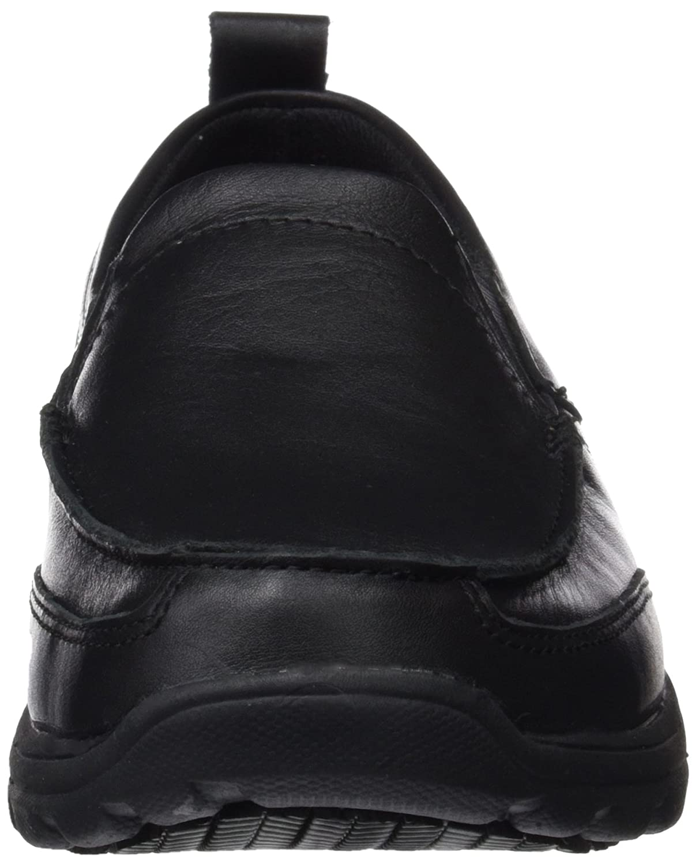 Amazon.com | Skechers Hobbes Men Sneaker Slip on Workingshoe Black | Fashion Sneakers