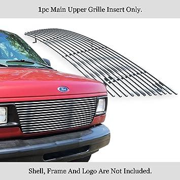 APS Compatible with 1992-2007 Ford Econoline Van 15 Bars Black Billet Grille Insert S18-H02058F