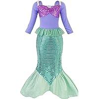 AmzBarley Disfraz de sirena para niña, disfraz