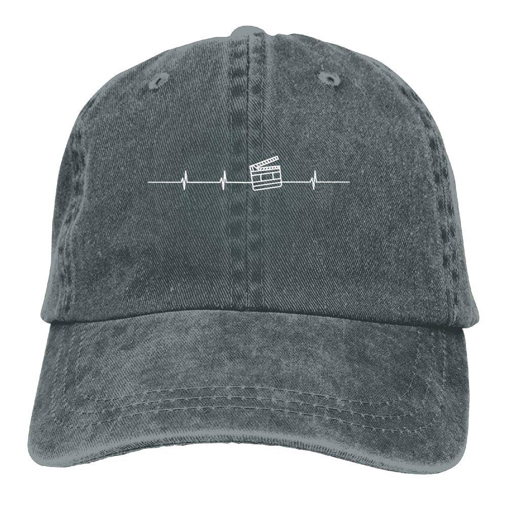 2018 Adult Fashion Cotton Denim Baseball Cap Boot Card Heartbeat Classic Dad Hat Adjustable Plain Cap