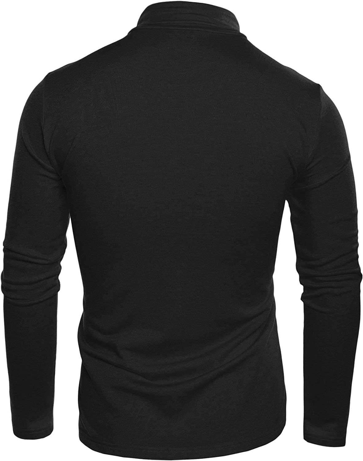 Mens Casual Slim Fit Soft Turtleneck Long Sleeve Pullover Thermal T-Shirt Basic Designed
