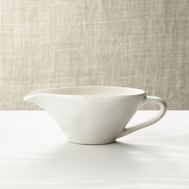 Marin White Gravy Boat | Crate and Barrel