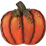 Metal Pumpkin Fall Harvest Decor Thanksgiving Free Standing Pumpkin Decoration (Small)